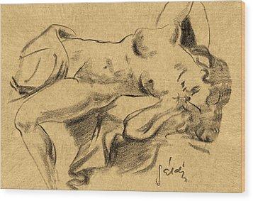 Nude Girl Wood Print by Odon Czintos