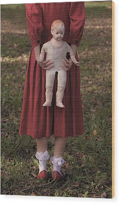Old Doll Wood Print by Joana Kruse