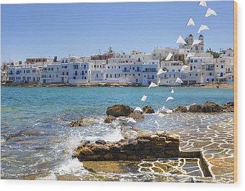 Paros - Cyclades - Greece Wood Print by Joana Kruse