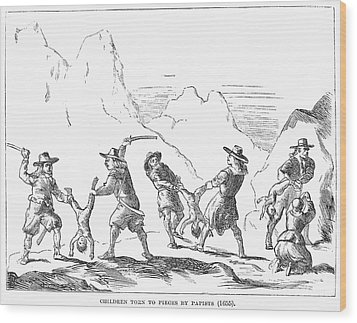 Persecution Of Waldenses Wood Print by Granger