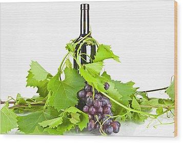 Red Wine Wood Print by Joana Kruse