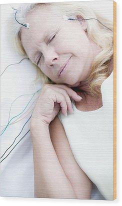 Sleep Research Wood Print by