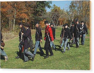 Soldiers March Wood Print by LeeAnn McLaneGoetz McLaneGoetzStudioLLCcom