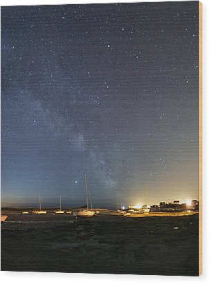 Stars In A Night Sky Wood Print by Laurent Laveder