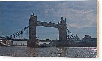 Tower Bridge Wood Print by Dawn OConnor