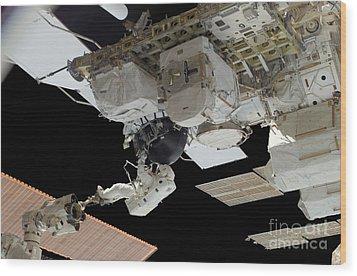 Astronaut Participates Wood Print by Stocktrek Images