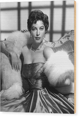Ava Gardner Wood Print by Everett