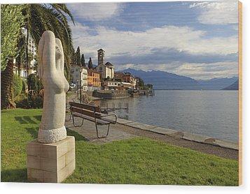 Brissago - Ticino Wood Print by Joana Kruse