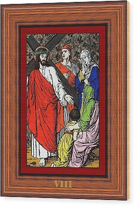 Drumul Crucii - Stations Of The Cross  Wood Print by Buclea Cristian Petru
