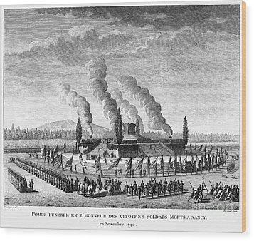 French Revolution, 1790 Wood Print by Granger