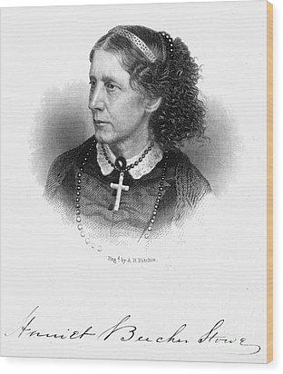 Harriet Beecher Stowe Wood Print by Granger
