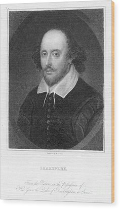 William Shakespeare Wood Print by Granger