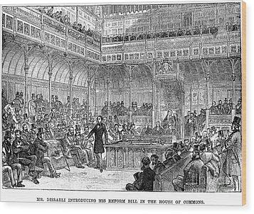 Benjamin Disraeli (1804-1881) Wood Print by Granger