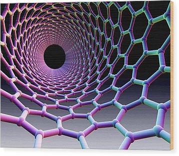Carbon Nanotube Wood Print by Pasieka
