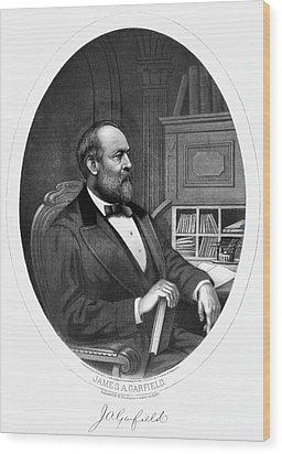 James A. Garfield (1831-1881) Wood Print by Granger