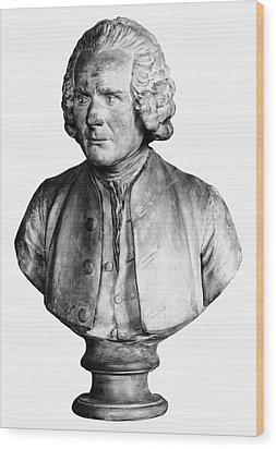 Jean Jacques Rousseau Wood Print by Granger