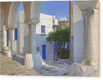 Paros - Cyclades - Greece Wood Print by Joana Kruse