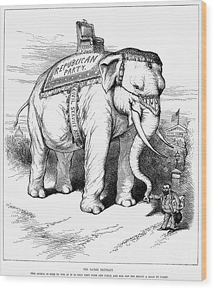 Presidential Campaign, 1884 Wood Print by Granger