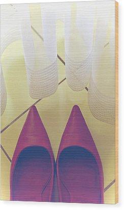 Pumps Wood Print by Joana Kruse