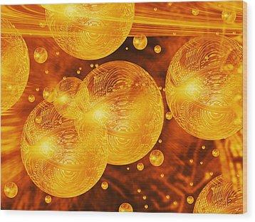 Quantum Computing Wood Print by Mehau Kulyk