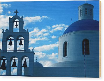 Wood Print featuring the photograph Santorini Greece by Colette V Hera  Guggenheim
