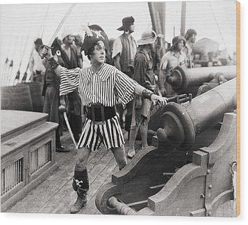 Silent Film Still: Pirates Wood Print by Granger