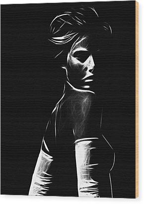 The Look Wood Print by Steve K