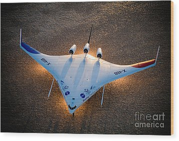 X48b Blended Wing Body Wood Print by Nasa