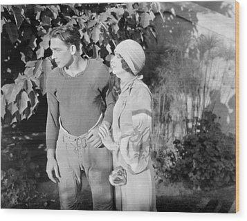 Silent Film Still: Couples Wood Print by Granger