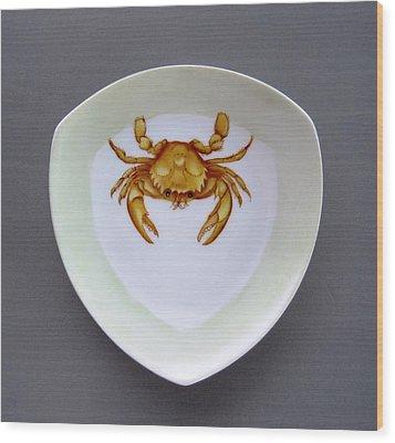 866 2 Part Of Crab Set 1 Wood Print by Wilma Manhardt