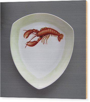866 5 Part Of The Crab Set  866 Wood Print by Wilma Manhardt