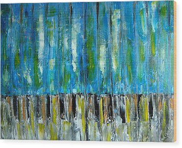 88 Keys To Heaven Wood Print by Gunter  Tanzerel