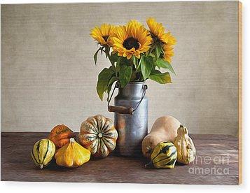 Autumn Wood Print by Nailia Schwarz