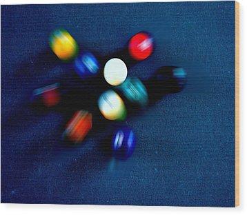 9 Ball Break Wood Print by Nick Kloepping