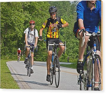 Bicycle Ride Across Georgia Wood Print by Susan Leggett