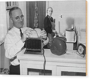 Harry S. Truman (1884-1972) Wood Print by Granger