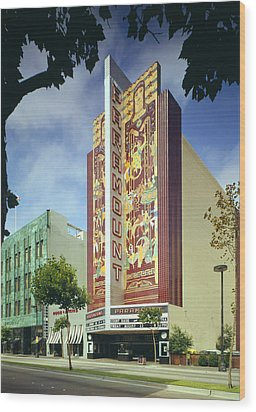 Movie Theaters, The Paramount Theatre Wood Print by Everett