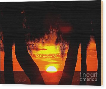 Sunset Wood Print