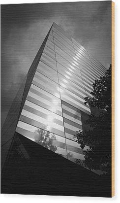 911 Memorial Museum Bw Wood Print by Teresa Mucha