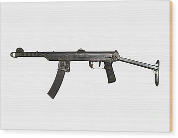 A 7.62mm Type 54 Machine Gun, A Variant Wood Print by Andrew Chittock