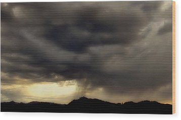Wood Print featuring the photograph A Beautiful Storm by Katie Wing Vigil