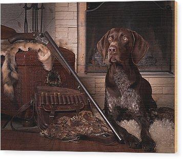 A Born Hunter... Wood Print