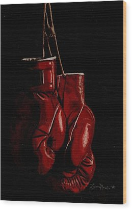 A Boxer's Passion Wood Print by Laura Evans