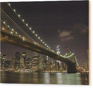 A Brooklyn View Wood Print by Alex Ching