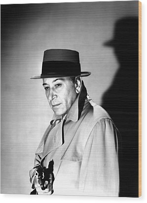 A Bullet For Joey, George Raft, 1955 Wood Print by Everett