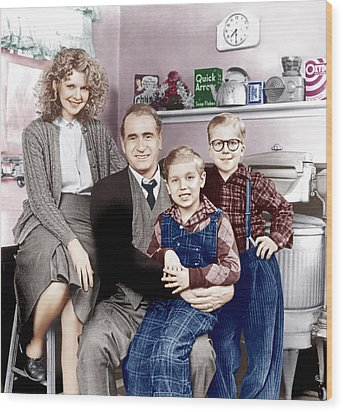 A Christmas Story, From Left Melinda Wood Print by Everett