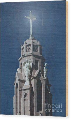 A Church Tower Wood Print by Donna Greene