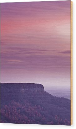 A Colourful Sunset Over Sutton Bank Wood Print by Julian Elliott Ethereal Light