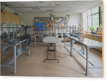 A Community Centre Art Room And Studio Wood Print by Marlene Ford