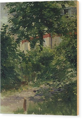 A Corner Of The Garden In Rueil Wood Print by Edouard Manet